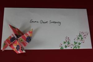 Emily's letter envelope