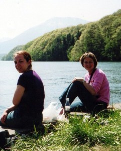 Travelling together in the Japan Alps in May 2002