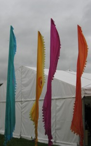 'A rainbow in somebody's cloud' - Maya Angelou Image taken at the Hay Festival, 28 May 2014)