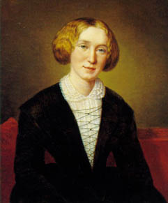 George Eliot, painted by Aged 30 by the Swiss artist Alexandre Louis François d'Albert Durade (Creative Commons Licence)
