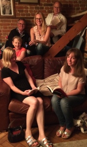 Emma Claire (right) with her book club friends.
