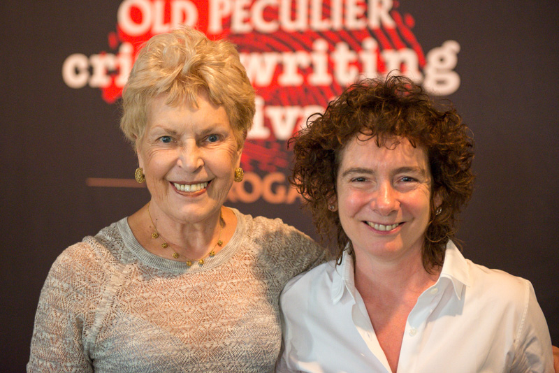 Ruth Rendell and Jeanette Winterson at the Theakstons Old Peculier Crime Writing Festival 2013 (Copyright Fenris Oswin)