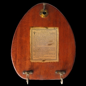 A planchette - the kind of device once used by Harriet Beecher Stowe, to try and make contact with the ghost of Charlotte Bronte. (Creative Commons licence)