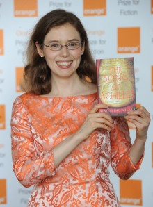 Madeline Miller wearing the dress she loaned from Ann Patchett.