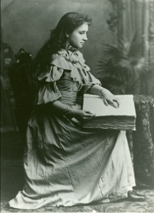Helen Keller. Image used with kind permission of the Perkins Museum.