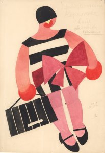 Tatiana Bruni, Kozelkov's Girlfriend, Costume Design for The Bolt, 1931, Courtesy GRAD and St Petersburg Museum of Theatre and Music