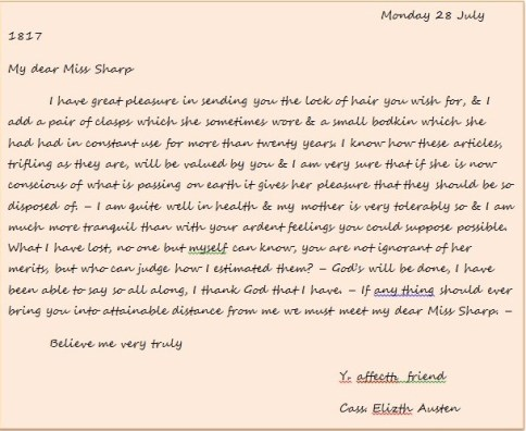Letter from Cassandra to Anne (2)