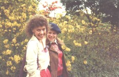 Michèle Roberts (left) and Sarah LeFanu (right) at Sissinghurst in 1981.