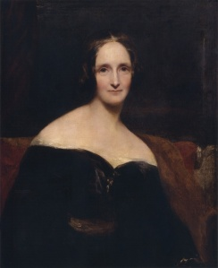 Portrait of Mary Shelley by Richard Rothwell. This image is in the public domain.