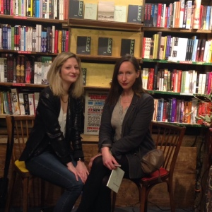 Lauren Elkin and Joanna Walsh at their recent event at the Shakespeare & Co bookshop in Paris.
