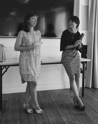 Emma and Emily's talk on female writing friendships at the Margate Bookie festival - image by Ben Bowles