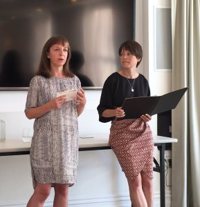 Emma (left) and Emily talking about female literary friendship (Image by Jonathan Ruppin)