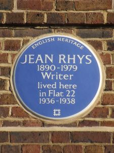 Plaque outside Jean Rhys's former home in London's Chelsea (Creative Commons licence)